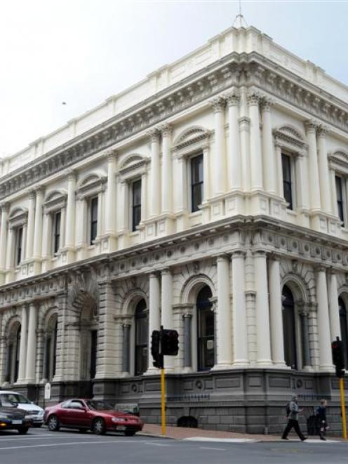 The former BNZ building in the Exchange. Photo by Peter McIntosh.