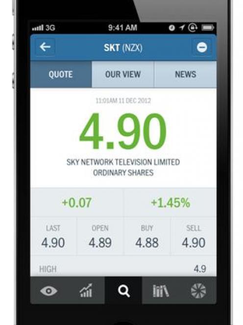 The Forsyth Barr iPhone app.