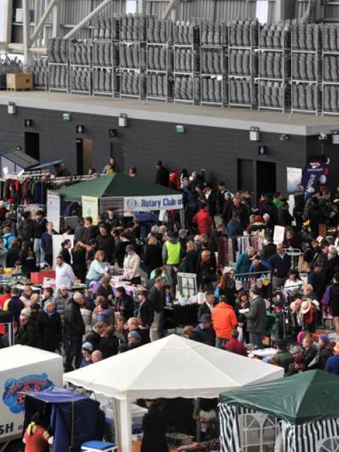 The Forsyth Barr Stadium Sunday market.