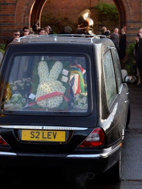The funeral cortege of Ronnie Biggs arrives at Golders Green Crematorium in north London. REUTERS...