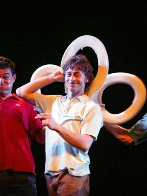 """The funny men of Tricicle, the Spanish comedy trio described as """"the modern day Marx brothers""""...."""