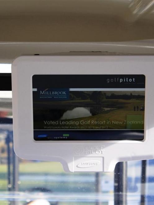 The Golf Pilot  screen.  Photos supplied.