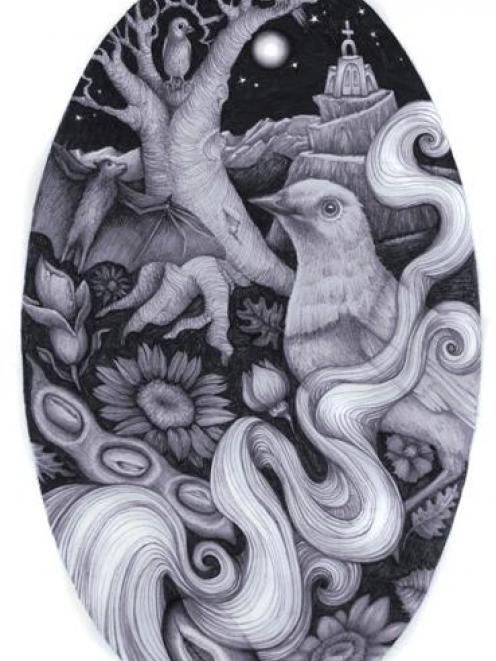 The graphite on card illustrations for The Mijo Tree. Photos supplied.