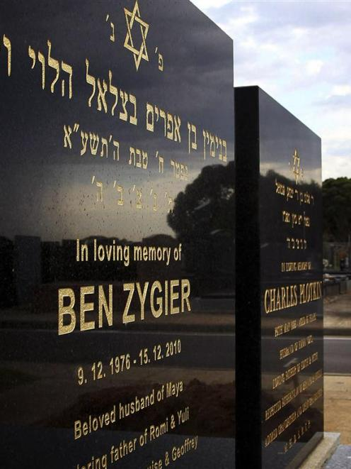 The grave of Ben Zygier, the Australian whom local media have identified as the man who died in...