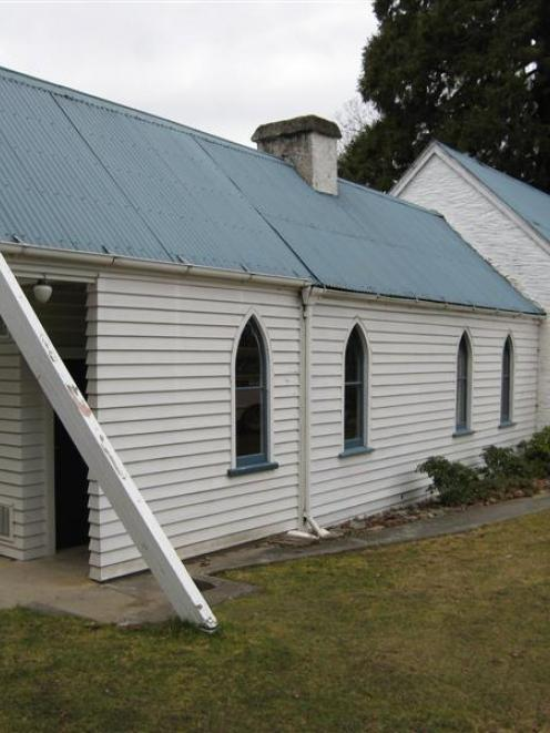The hall at the rear of Arrowtown's St John's Presbyterian Church, which was built in 1871 as the...