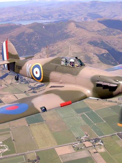 The Hawker Hurricane P3351, previously owned by Wanaka's Alpine Fighter Collection, takes its...