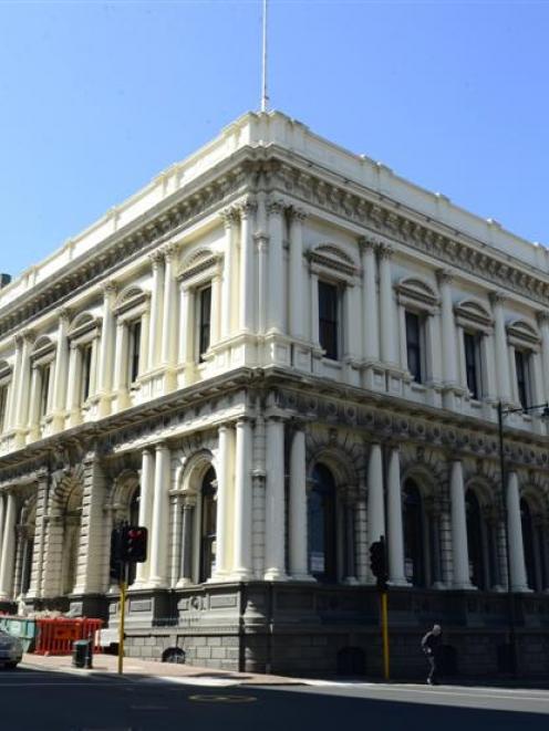 The historic BNZ building in Princes St, Dunedin. Photo by Peter McIntosh.