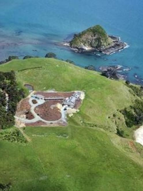 The home overlooking Doubtless Bay has its own white-sand beach. Photo / NZ Herald