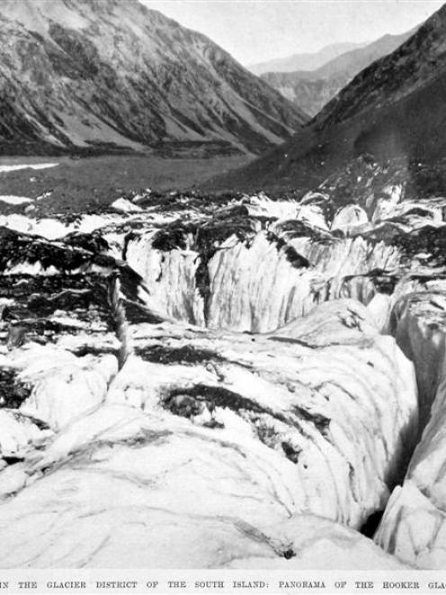 The Hooker Glacier, Mt Cook region. - Otago Witness, 27.1.1909