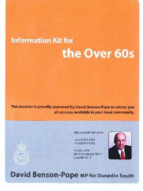 The information booklet being distributed by David Benson-Pope.