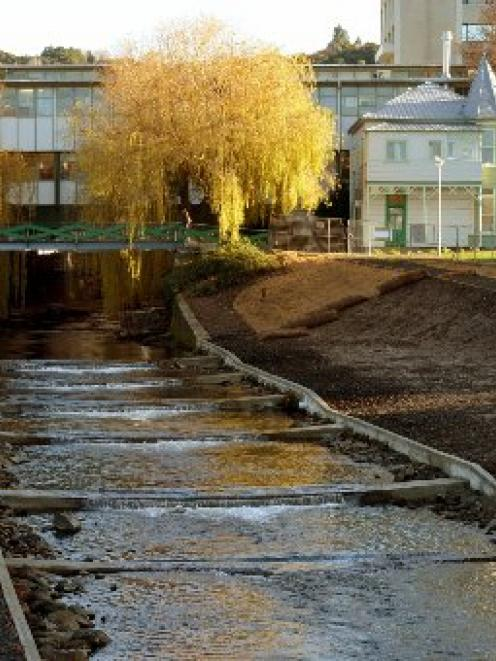 The Information Technology Services building straddles a key point of the Water of Leith, with...