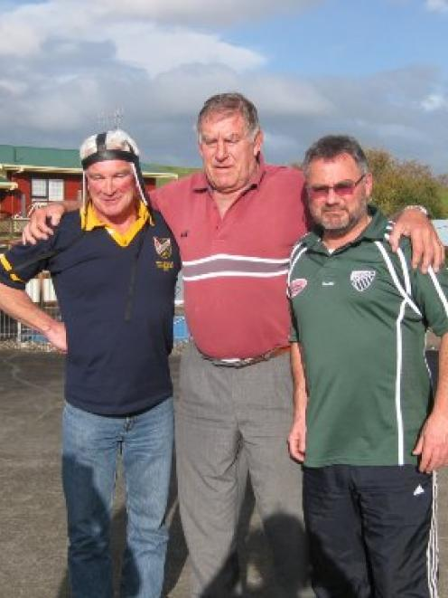 """The """"Irish"""" lads: O'Connell (left) and O'Brien (right) caught up with """"Tree'' in Meadsville but,..."""