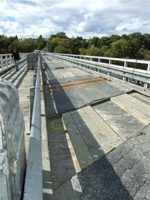 The Kawarau Falls bridge last week after two weeks of repair work. Photo by Christina McDonald.