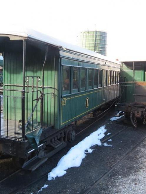 The Kingston Flyer locomotives and carriages, now under lock and key in a siding in Kingston....