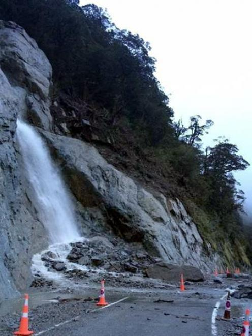The latest slip on the Haast Pass. Photo supplied.