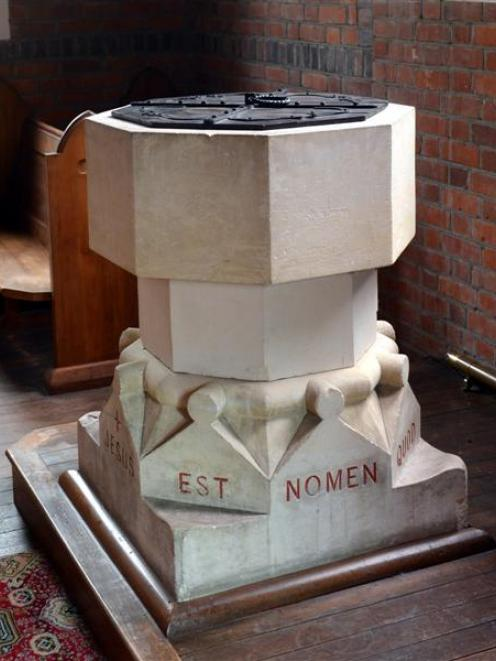 The Lawrence Anglican church's font, which was believed to be 1000 years old, is, according to a...