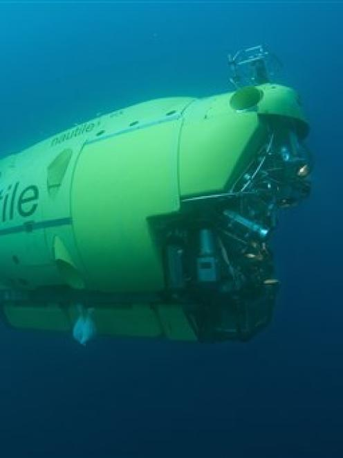 The manned submarine Nautileat, seen here in a file photo, is heading from the Azores and will be...