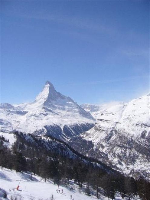 The Matterhorn towers over the Swiss village of Zermatt. Photo supplied.