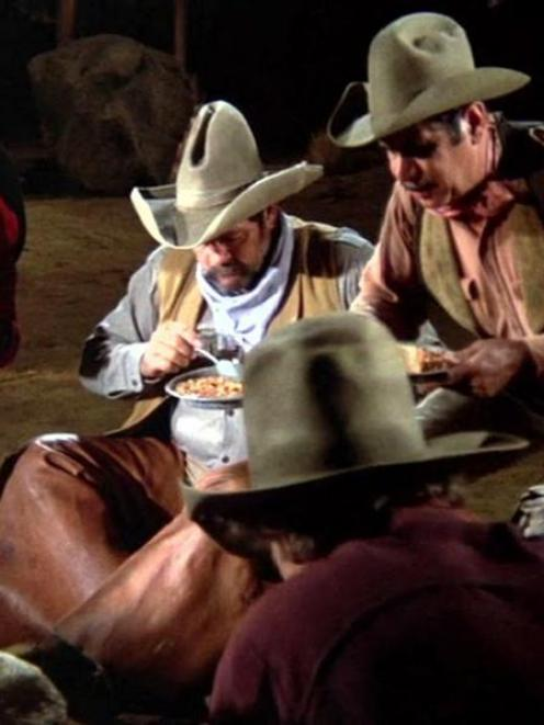 The memorable campfire and beans scene from the film Blazing Saddles. Photo supplied.