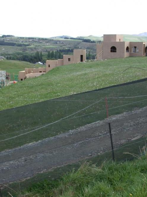 The movie set resembling a biblical village built for the film at Elephant Rocks, near Duntroon,...