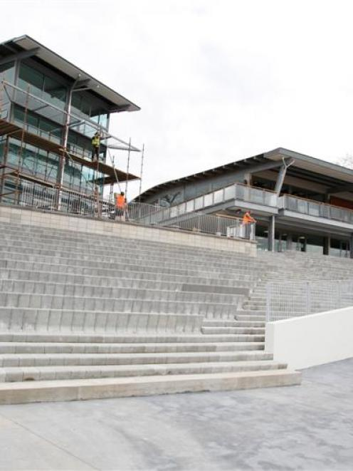 The new media rooms and grandstand on Lake Karapiro. Photos by NZPA.