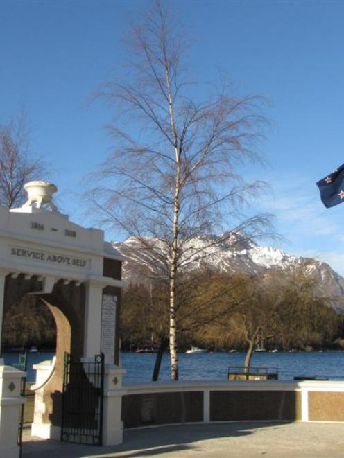 The New Zealand flag at the Queenstown Memorial Gates is often flown at half-mast in recognition...