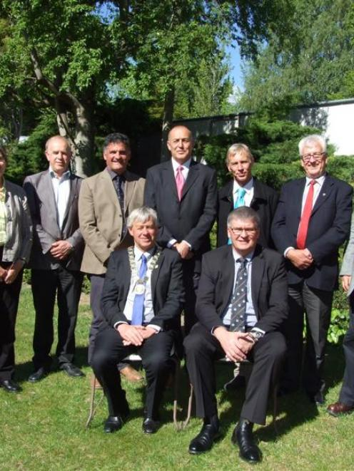 The newly sworn-in Central Otago District Council has six new members out of 10. Pictured after...