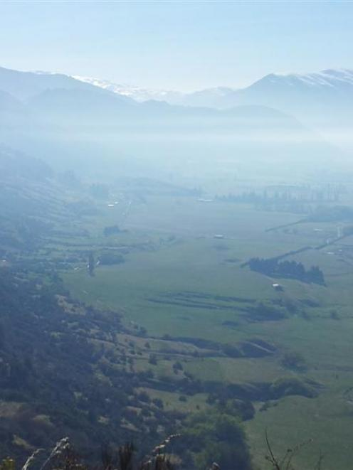 The normally picturesque view from Coronet Peak  towards Arrowtown was ruined by smoke from...