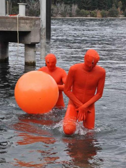 """The """"Orange Men"""" who took  top honours in the 2011 Birdman competition, held as part of the..."""