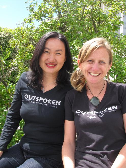 The organisers of Wanaka's Outspoken festival, Julie Le (left) and Liz Breslin. Photo by Lucy...