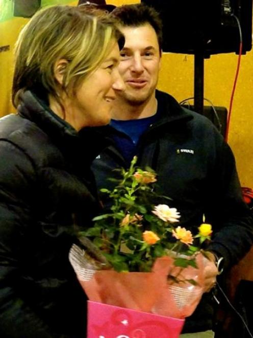 The overall winners of the inaugural North Otago Lions farm greenfeeds competition, Julie and...