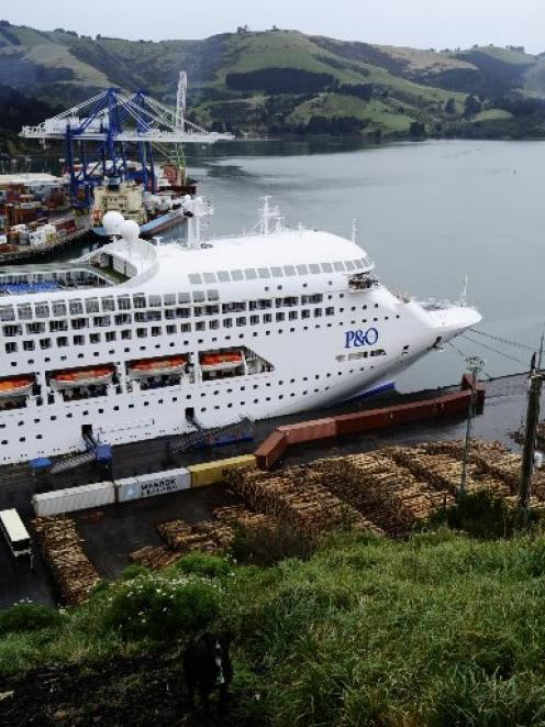 The Pacific Dawn berthed at Port Chalmers on a previous visit to Dunedin. Photo ODT files.