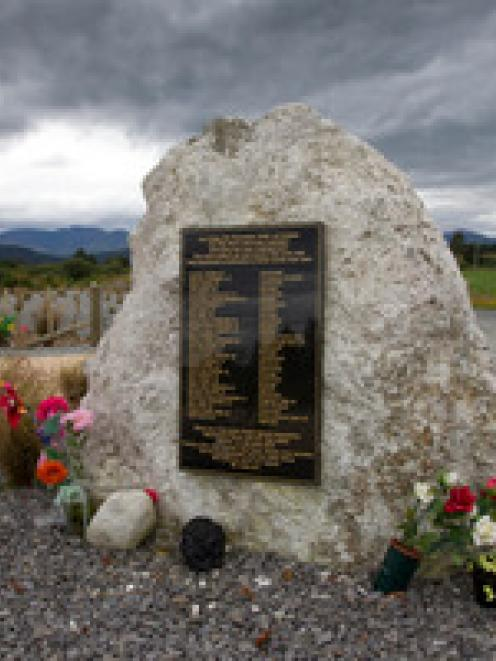 The Pike River memorial at Logburn Rd on the West Coast. Photo: NZ Herald