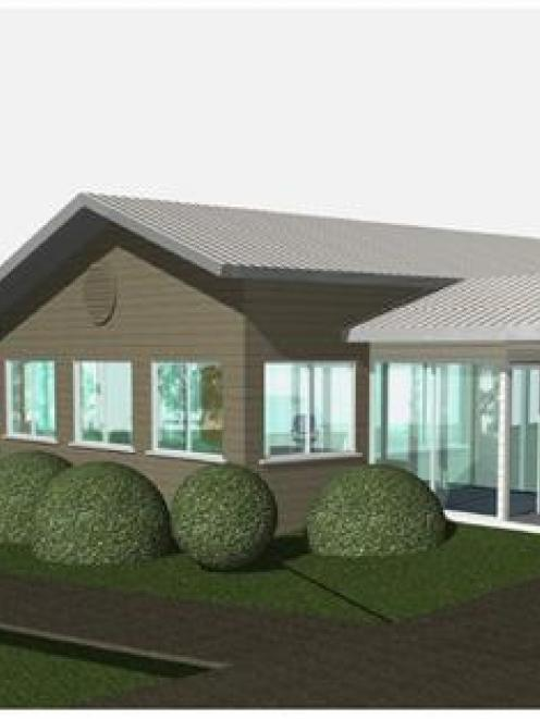 The proposed rest-home wing of the West Otago Health Centre. Image by Oakley Gray Architects.