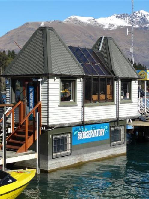 The Queenstown Underwater Observatory in  Marine Parade. Photo by Guy Williams.
