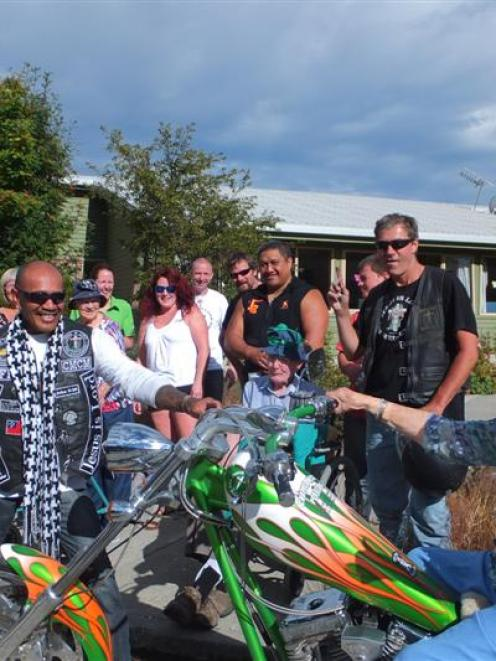 The redeemed Christian Motorcycle Ministry visit the Wakatipu Retirement Home  in Queenstown last...