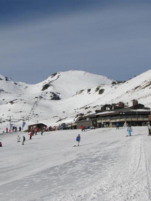 The Remarkables ski area base building.