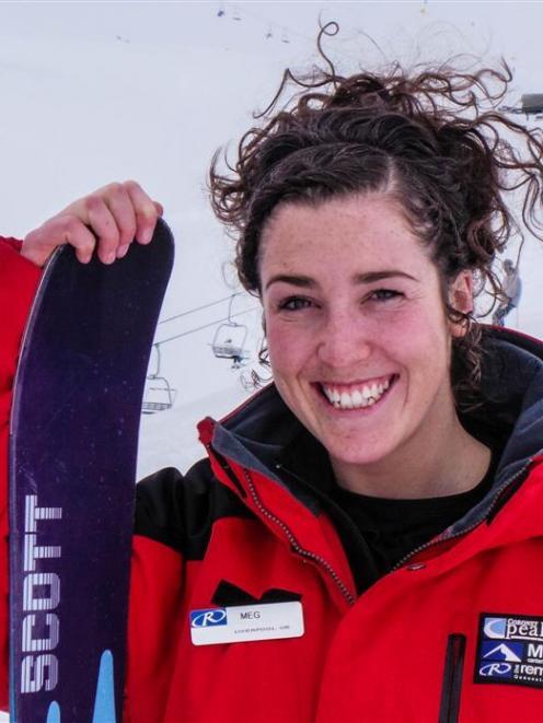 The Remarkables Ski Area host Megan Burke. Photo by The Remarkables.