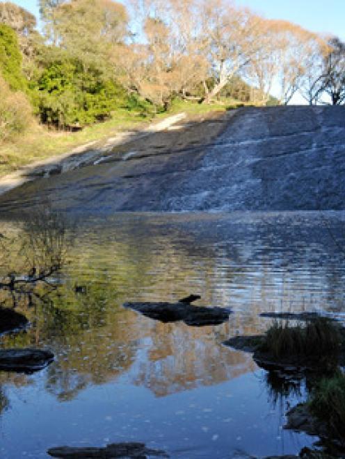 The Rere Rock Slide in Gisborne.
