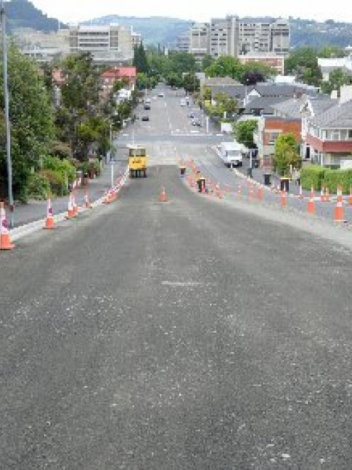 The roadworks on Union St. Photo by Craig Baxter