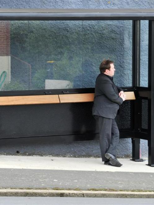 The Ross St bus shelter. Photo by ODT.