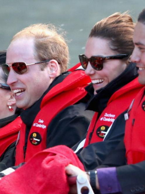 The royal couple 'had a blast' on the Shotover Jet ride, operations manager Wayne Paton said....