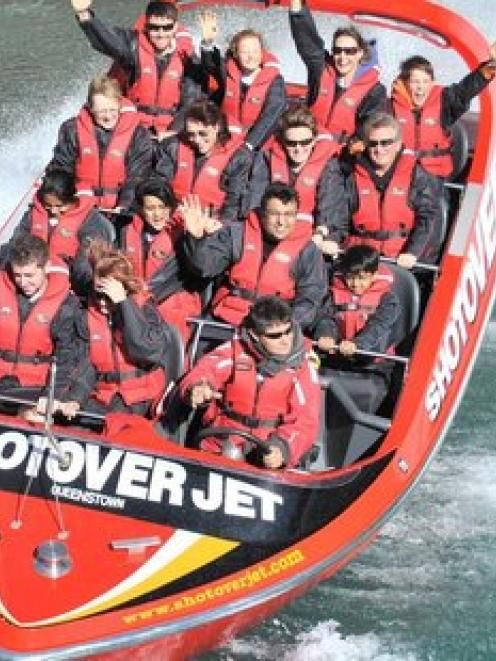 The royal couple will test their nerves with a ride on the Shotover Jet. Photo / APN