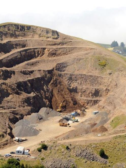The Saddle Hill quarry. Photo by ODT.