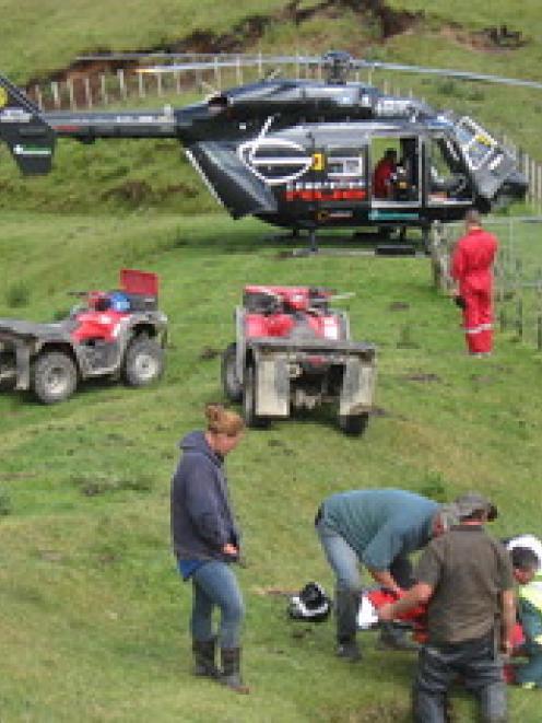 The scene of the crash near Te Haroto today. Photo supplied