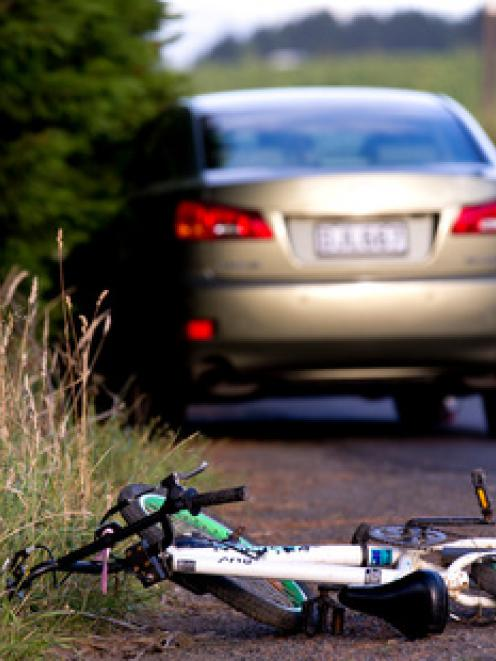The scene of the crash. Photo: NZ Herald/Dean Purcell