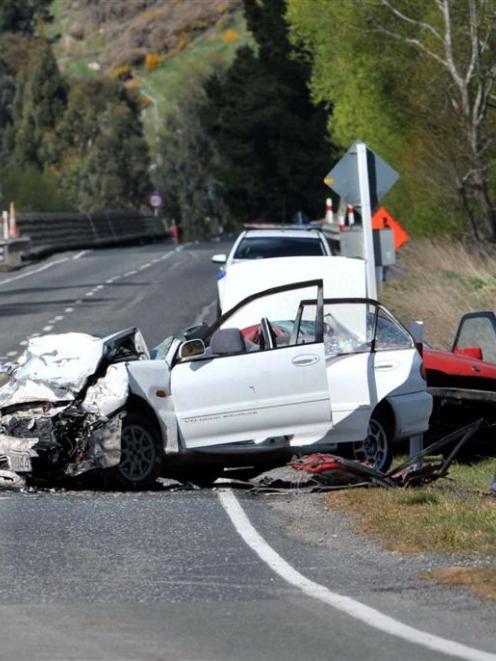 The scene of the fatal crash.