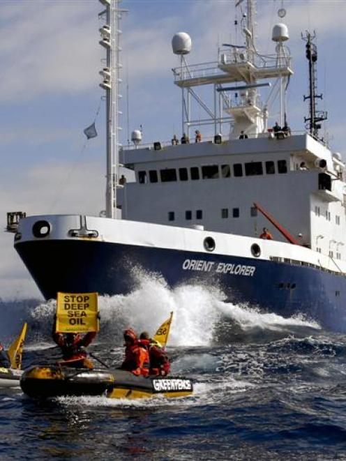 The seismic survey vessel Orient Explorer, contracted by Brazilian giant Petrobras a year ago off...