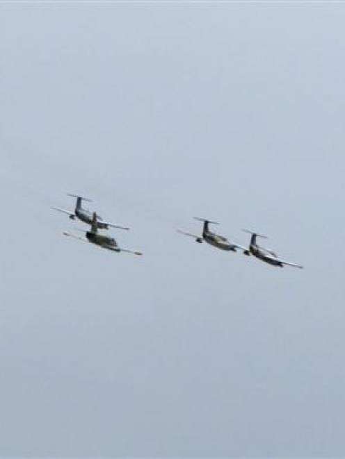 The six jet aircraft that will race around an 'aerial racetrack' at the Warbirds Over Wanaka...