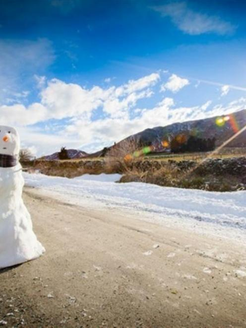 The snowman   in the NZ-made Christmas television commercial for John Lewis, as seen on Glencoe...